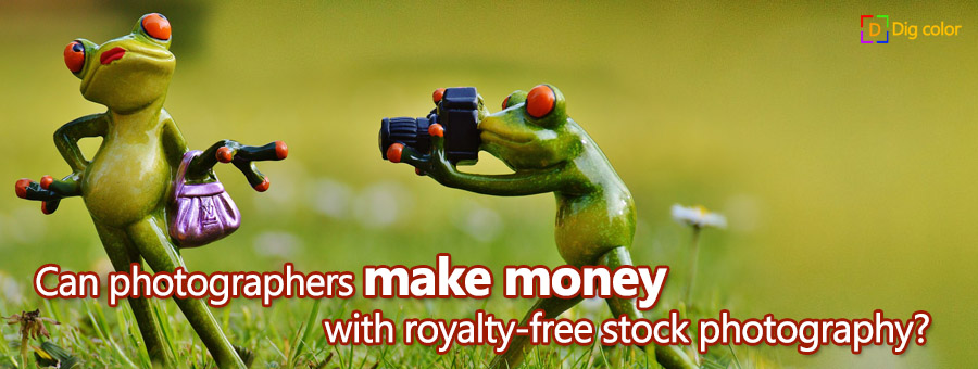 Can photographers make money with royalty-free stock photography?